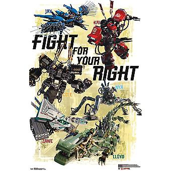 Lego Ninjago - Battle Poster Print