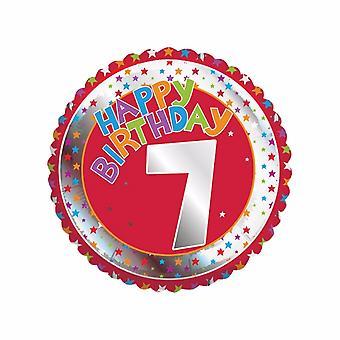 Creative Party Happy 7th Birthday Milestone Balloon