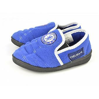 Chelsea FC Official Childrens/Kids Football Goal Heel Slippers
