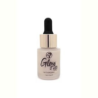 W7 Glow It All! Multi-Glow Serum Pink About It 0.53oz / 15ml