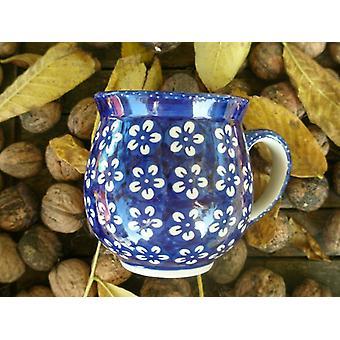 Ball Cup approx. 500 ml, height 11 cm, Bolesławiec blue, BSN J-930
