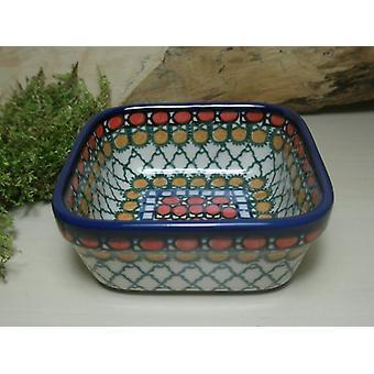 Square Bowl, 9.5 x 9.5 cm, height 4,5 cm, unique 1 - BSN 10428