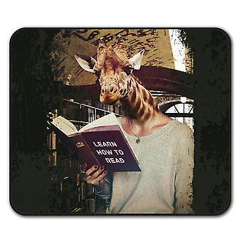 Giraffa Geek animale antiscivolo tappetino Pad 24 x 20 cm | Wellcoda