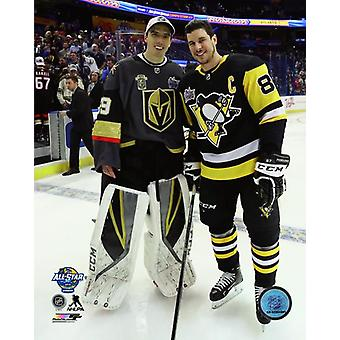 Marc-Andre Fleury & Sidney Crosby 2018 NHL All-Star Game Photo Print