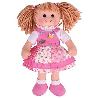 Bigjigs Toys Soft Plush Hayley (34cm) Rag Doll Cuddly Toy