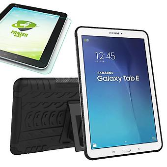 Hybrid outdoor case for Samsung Galaxy tab E 9.6 SM T560 + 0.4 tempered glass