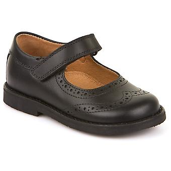 Froddo Girls G3140006-6 School Shoes Black Leather