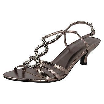 Dames plek op Open teen Diamante sandalen