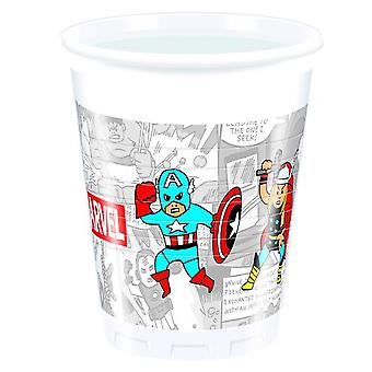 Avengers team power super hero party Cup drinking cups 200 ml 8 piece children birthday theme party