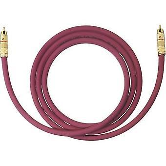 RCA audio/phono kabel [1x RCA plug (phono)-1x RCA plug (phono)] 6 m Bordeaux vergulde connectors Oehlbach NF 214 SUB