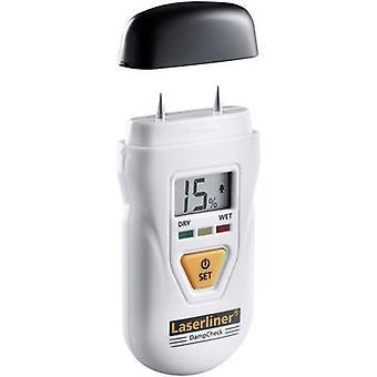 Laserliner DampCheck Moisture meter Building moisture reading range 0.2 up to 2.9 vol% Wood moisture reading range 6 up to 60 vol% Temperature reading,