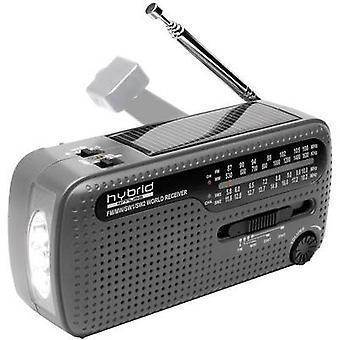 Muse MH-07 DS Shortwave mottagare FM, AM, SW svart