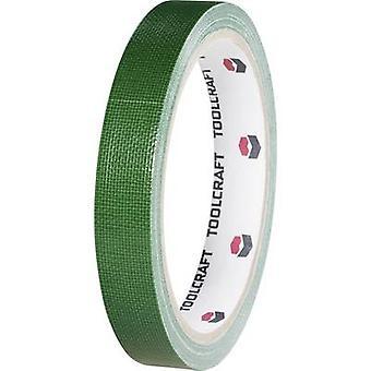 TOOLCRAFT HEB38L10ÜC klut tape HEB38L10ÜC Green (L x B) 10 m x 38 mm 1 ruller