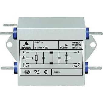 TDK B84111AB120 EMI suodatin palon esto 250 V AC 20 A 0,47 mH (p x l x k) 63,5 x 77 x 38,1 mm 1 kpl (s)