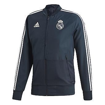2018-2019 Real Madrid Adidas Presentation Jacket (Dark Grey)