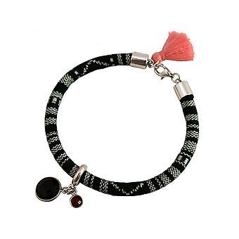 Senhoras - brincos - 925 - asteca - smoky quartz - rosa Ruby - vermelho-