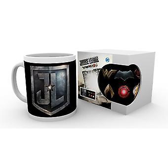 Justice League Cup logo blanc, imprimé, en céramique, capacité env. 320 ml...