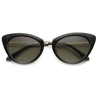 Womens Classic Oval Form Metall Tempel Mod Fashion-Cat-Eye-Sonnenbrille