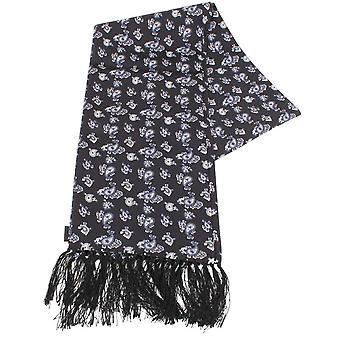 Knightsbridge cravates Paisley foulard en soie - noir/bleu