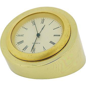 Gift van tijd producten kleine ronde bureauklok - goud