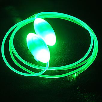 LED laces/flashing and brilliant green