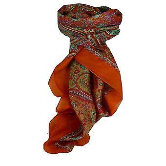 Mulberry Szal jedwabny kwadratowych tradycyjnych Dida terakoty przez Pashmina & Silk