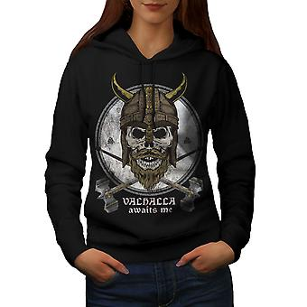 Valhalla Women BlackHoodie | Wellcoda