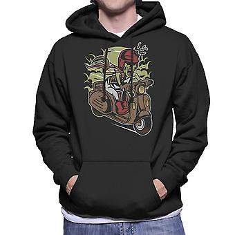 Zombie Scooter Men's Hooded Sweatshirt
