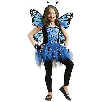 Ballerina Butterfly Blue Fairy Pixie Sprite aankleden meisje kostuum