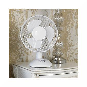 White Fan Pedestal Fans Oscillating Stand Desk Clip USB Electric Home Tower Office Standing