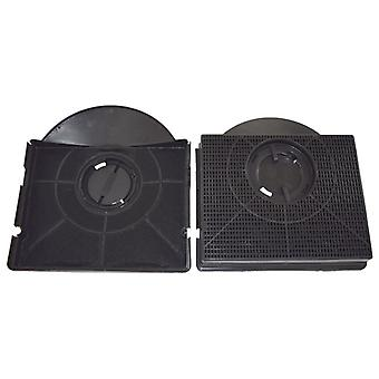 Type 303 Carbon Charcoal Cooker Hood Filter Pack of 2