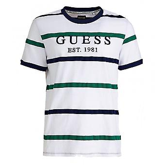 GUESS Emmet White Striped T-shirt