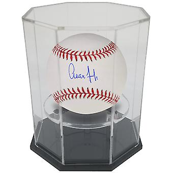 OnDisplay Deluxe UV-Protected Baseball/Tennis/Softball Display Case - Octagon Black Base
