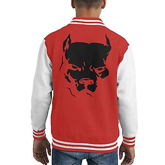 American Pitbull Silhouette Kid's Varsity Jacket