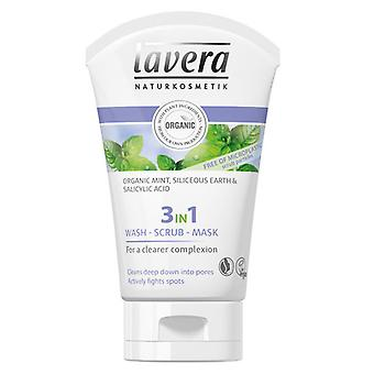 Lavera 3in1 vask, scrub og Mask 125ml