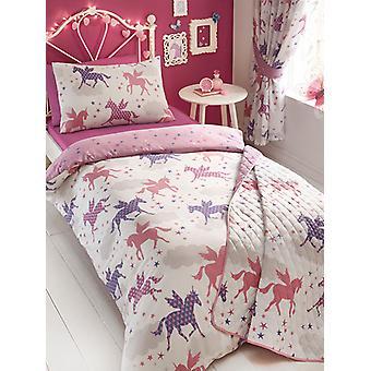 Divine Unicorns Single Duvet Cover and Pillowcase Set