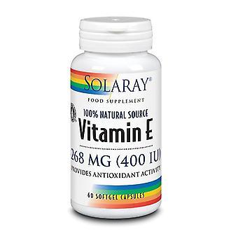 Solaray Vitamin E 268mg Softgels 60 (1020)