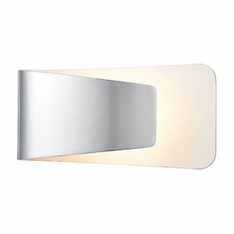 1 Light Indoor Wall Light Aluminium, White