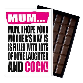 Funny Mother's Day Gift Boxed Chocolate Present Rude Greeting Card For Mom Mum Mumy MIYF137