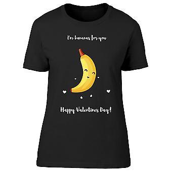 Saint-Valentin avec Banana Tee Women-apos;s -Image par Shutterstock