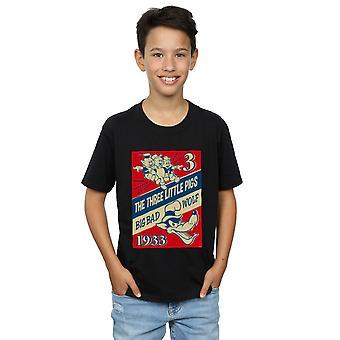 Disney pojat kolme pientä sikaa ja Big Bad Wolf T-paita