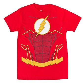 The Flash Suit Up Red Costume Tee Shirt