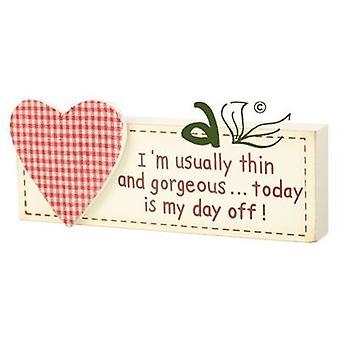 Im Usually Thin... Wooden Heart Block