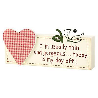 Im Usually Thin... Wooden Heart Block