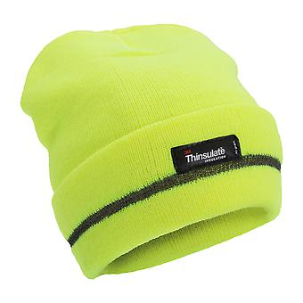 FLOSO Unisex Hi Vis Thinsulate Thermal Knitted Beanie Hat (3M 40g)