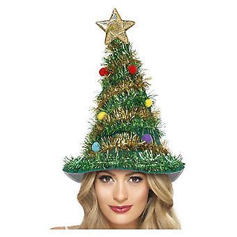 Árvore de Natal chapéu vestido extravagante acessório