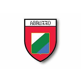 Autocollant Sticker Voiture Moto Blason Ville Drapeau Abruzzes Abruzzo Italie