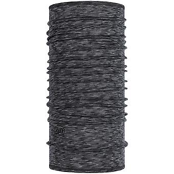 Buff Lightweight Wool Buff Neck Warmer in Graphite Multi Stripes