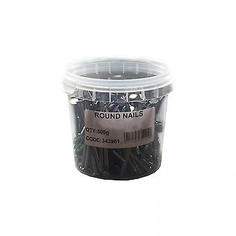 Bright Round Wire Nails (500g/17.6oz)