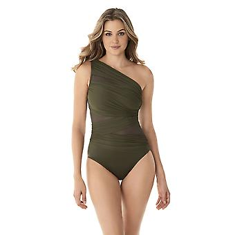 Miraclesuit 6516615-OLT Women's Network Jena Olivetta Green Shaping Swimsuit